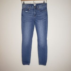 J Crew Mid Rise Skinny Ankle Jeans